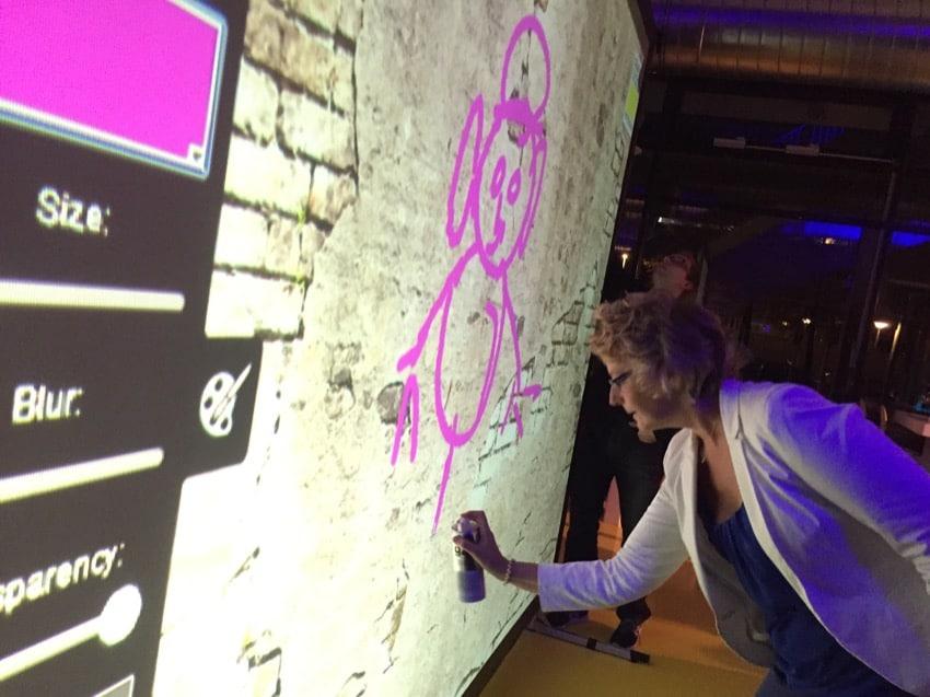 Digitale graffiti in Eindhoven
