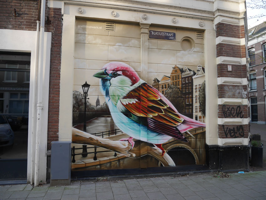 Graffiti overlast schildering