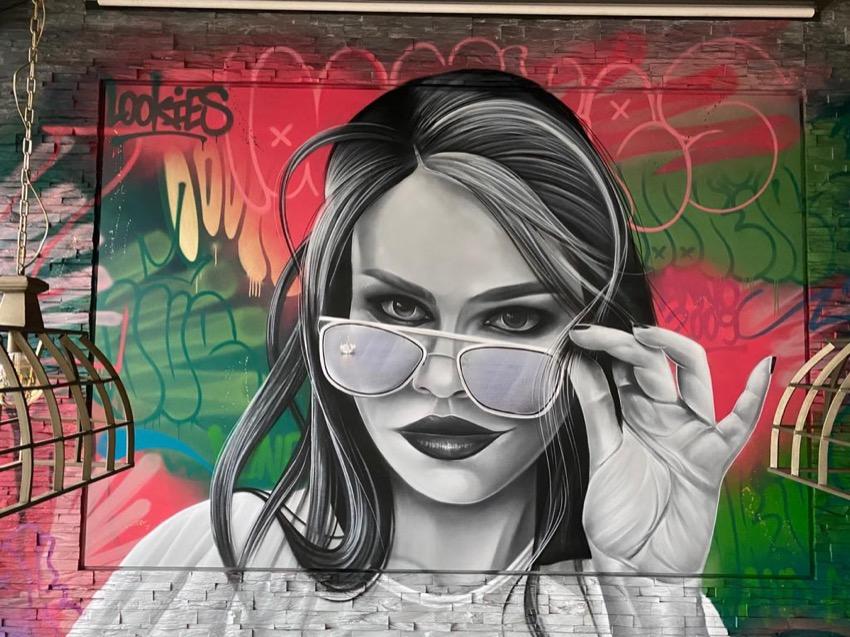 Muurschildering in Eindhoven