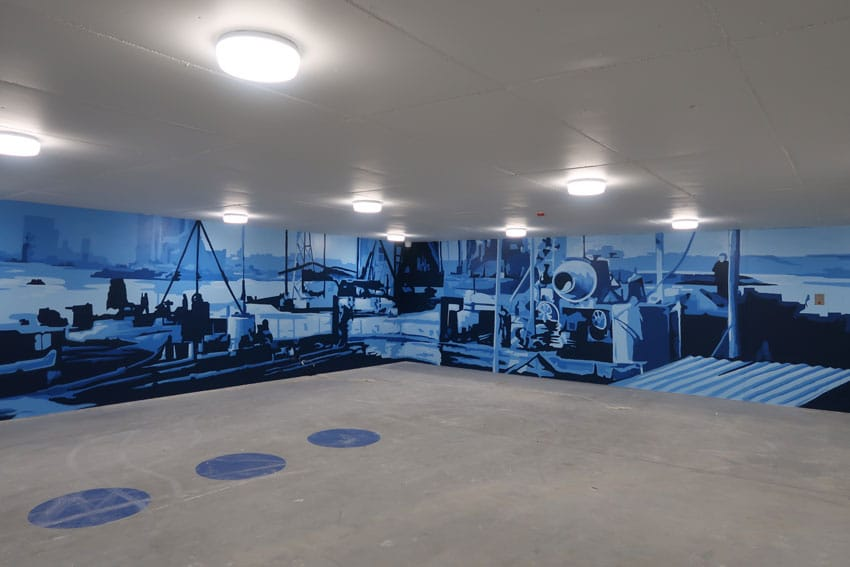 Wandschildering parkeergarage Eindhoven